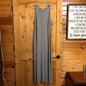 NWOT grey maxi dress